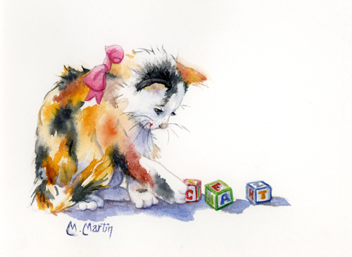 Baby Lulu, an Original Watercolor by Marcella Martin